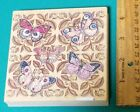 Butterfly Rubber Stamp Large 4 Square Image Leaves  Butterflies Stamps Happen