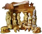 Nativity Set 11 Figures 35 +Nativity Stable Hand Made Olive Wood Holy Land