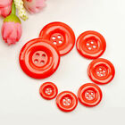 Holes Round Resin Buttons DIY Scrapbooking Sewing Craft 1Pcs red