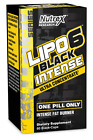 Nutrex Research Lipo 6 Black Intense Fat Burner Ultra Concentrate, 60 Count