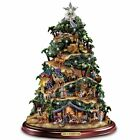 Thomas Kinkade Illuminated Nativity Tabletop Tree Glory To The Newborn King