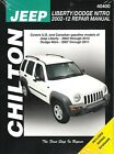 2002-2012 Jeep Liberty Dodge Nitro Chiltons Repair Service Shop Manual Book 3599