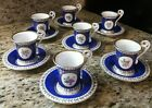 Vieux Old Paris Porcelain Demitasse Cup and Saucer Crown Makers Mark Lot of 7