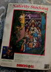 Demensions 1994 Needle Point Nativity Stocking Holy Family And Wise Men