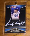 Sandy Koufax 2012 Topps Tier One White Ink Autograph Hall Of Fame Dodgers 08 25