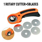 45mm Rotary Cutter Sewing Fabric Leather Plastic Craft Cutting Tool +5Pcs Blades