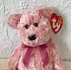 Ty Beanie Baby Smitten - MWMT (Bear Black nose 2002) Valentines MULTI PINK COLOR
