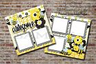 Bee Awesome Boy Girl Baby 2 PRINTED Premade Scrapbook Pages BLJgraves 56