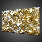 BEAUTIFUL ABSTRACT GOLD CRYSTAL GLASS CANVAS PRINT WALL ART PICTURE PHOTO
