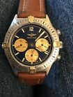 Authentic Luxury Vintage Breitling Castillo 80520N 5924 18kt Y Gold and Steel