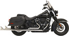 Bassani True Duals Exhaust for 2018 19 Harley Softail Models Chrome 1S96E 36