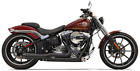Bassani Road Rage Exhaust for 2008 17 Harley Softail Breakout Black 1S42RB