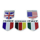 1 3D Logo National Flag Aluminum Car Decal Badge Emblem Sticker Self Adhesive