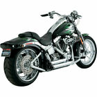Vance  Hines Chrome Shortshots Staggered Exhaust Harley Softail 86 11
