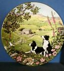 BORDER COLLIE  SHEEP FARM DOG COLLECTOR PLATE FRANKLIN MINT SHEPARDS PATH