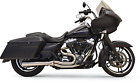 Bassani Road Rage Exhaust for 1999 16 Harley Glide Models Raw Steel 1F12SS