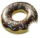 Swim About Large Donut Swim Ring Tube Pool Inflatable Floats for Adults Brown