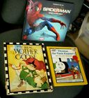 Kids Books Thomas The Tank, Spider-Man, and The Real Mother Goose