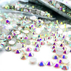 10packs 1440pcs Glitter Crystal AB Nail Art Rhinestone FlatBack Glass Gems Stone