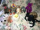 Lot of 9 TY BEANIE BABY BUDDY Cheeks Bananas Spinner Eucalyptus Rufus Milennium