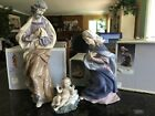 Lladro 3 Piece Large Nativity Set w Saint Joseph1386 Virgin Mary 1387 Jesus