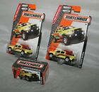 3 2016 Matchbox  75 TOYOTA TACOMA Official Vehicle Beach Patrol Yellow Lot