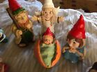 7 PIECE GNOME NATIVITY SET JESUS IN A MUSHROOM 3 KING IS 6 1 2 TALL
