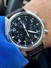 IWC Pilot Chronograph: 3717-01. Just serviced by IWC, with 2-year Warranty!
