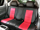 100 PU Leather Non Slip Rear Car Seat Cushion Covers for Jeep 255R Bk Red