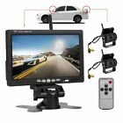 7 Monitor 2x Wireless Rear View Backup Camera Night Vision for RV Truck Bus Hot