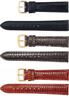 New Men's Long Genuine Lizard Padded Watch Strap Band
