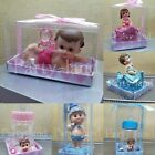1 Baby Shower Boy Girl Cake Topper Decoration Animals Figurines Party Favors