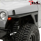 Tidal Tubular Front Fender Flare Rocker Guard Fit 97 06 Jeep Wrangler TJ