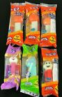 SET OF 6 Holiday Pez Dispensers 4 Halloween Pumpkin Ghost 2 Easter Bunny Egg NEW