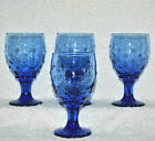 Vintage Libbey Hobnail Bubble Blue Gobletsd Excellent Condition Set of 4