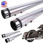 4 Megaphone Slip On Mufflers Exhaust Pipes For Harley Touring Glide Road King
