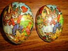 Vintage 1980s Fillable Paper Mache Easter Egg Germany Democratic Republic Nice