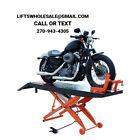New Titan 1000 lbs Motorcycle Lift with Front Wheel Vise and Front Extensions