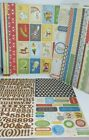 Crate Paper Scrapbook Kit Backing Papers Stickers LITTLE BOY BLUE Baby BOY