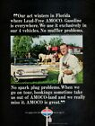 Vintage advertising print Gas Oil American Oil AMOCO Circus Family Hanneford 66