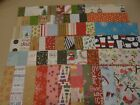 CHRISTMAS SCRAPBOOK PAPER CARD MAKING HUGE LOT 60 PIECES VARIETY glitter