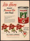 Vintage magazine ad TEXACO PT ANTIFREEZE 1948 Permanent Type star logo