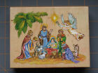 PSX NATIVITY SCENE RUBBER STAMP VERY RARE HOLIDAY DESIGN w Colored Top Image