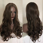 Dark Brown Synthetic None Lace WIg 180% Density Baby Wave Synthetic Hair Wigs