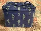 Kate Spade Staycation Colin Make Up Travel Train Case In RARE Seaponies