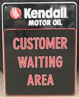 Vintage Kendall Motor Oil Customer Waiting Area Dealer Sign Excellent Condition