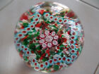 MURANO Lovely frilly STAR design MILLEFIORI paperweight DATE cane 1885