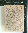 Outlines Rubber Stamp Co Spring Flowers Wood Mount Rubber Stamp 55 x 4