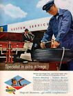 Vintage advertising print Gas Oil SUNOCO Service Station Specialist Tire Man 61
