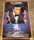 Original 1983 Never Say Never Again Movie Poster, Rolled, 27x41, James Bond